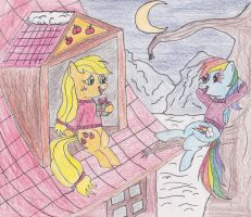 Up on the Rooftops... by DarkKnightWolf2011