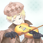 Request - england playing violin by Mi-chan4649
