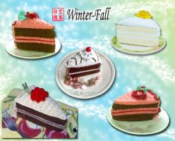 Cake Collection 1 by winter-fall