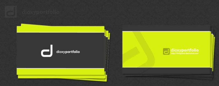 dioxyportfolio business card by DesignersJunior