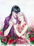 Watercolor couple by Mumium