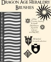 Dragon Age Heraldry Brushes by TruthDawnsinFire