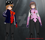 Asuka and Mari (Rebuild 3.0) (3DCG Test 02) (Shot) by DuskMindAbyss