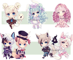 Chibi commissions 10 by LaDollBlanche
