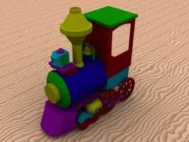 The Toy Train by dmonuk