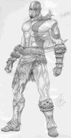 Kratos The God of War by Kidwingedwolf