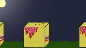 ZomCubes (game banner) by howlingathemoon