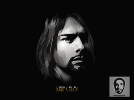 kurt cobain nirvana by firmacomdesign