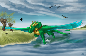 Over the lake by ThunderboltFire