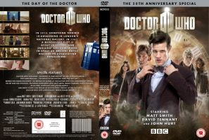 DOCTOR WHO 50th ANNIVERSARY DVD COVER by MrPacinoHead