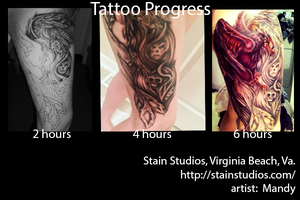 Phoenix Tattoo progression by Kahuna-Li