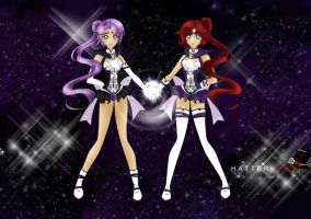 Sailor Galaxies Andromeda 1 and 2 by HatterRose