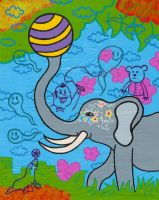 Siddhartha and the big top by popartmonkey