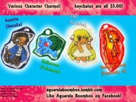 AgBoom: Charm Set 2 by ArtieDrawings