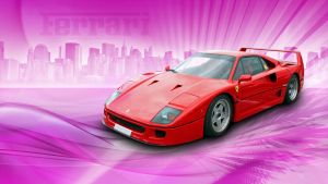 Ferrari F40 Wallpaper by GregKmk
