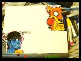2 big collabs WIP by Dingo4graff