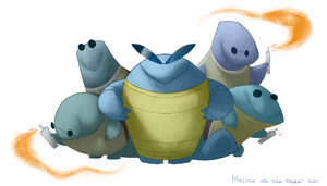 Here Comes the Squirtle Squad by sketchinthoughts