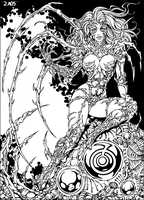 Witchblade b+w by Candra