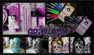 Gray and Purple_PSD by EditionssPerfectOk