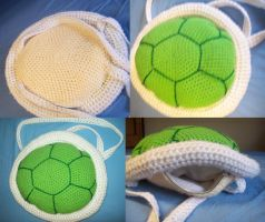 Green Koopa/Turtle Shell Backpack by IkuniHattori