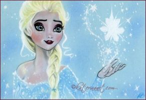 Let it Go (Elsa Frozen) by Katerina-Art