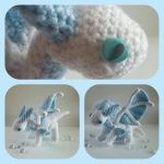 Crochet poseable ice dragon by Kai-TheDragon