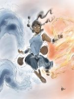 Korra Speed paint by Hoshytaka-Storm