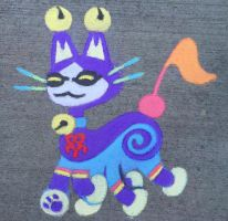Chalk Necho Cat by pennywhistle444