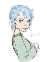 Blue Hair by SkyDominic
