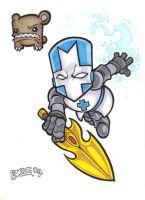 Castle Crashers Blue Knight by Burke73
