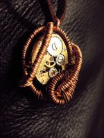 Steampunk Necklace - Copper by xxPRECIOUSMOMENTSxx
