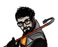 Gordon Freeman QuickSketch by ula387