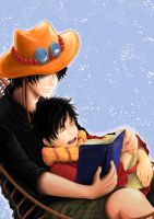 Ace and Luffy for c2000jade by EzariaUmiko