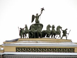 Sculpture of horses by Uzelena