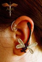 Dragonfly Earcuff by alina-loreley