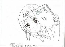 K-on Mio sketch by HokagoTeaTime