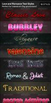 PSD TEXT  Love and Romance Text Styles by Juanxray