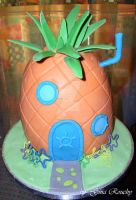 Spongebobs Pineapple by ginas-cakes