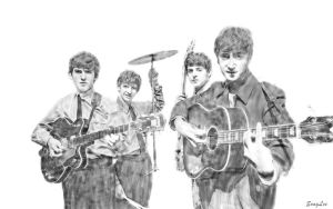 The Beatles Fab Four by lisong24kobe