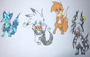 Fluffy Friends (Coloured Version) by Toothless6reach