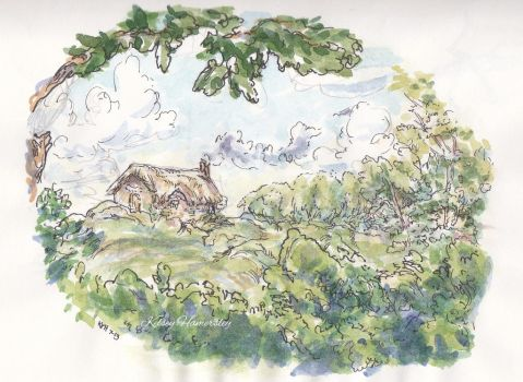 Cottage Doodle by bookels