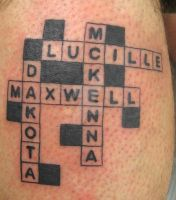 Crossword Tattoo by artist4life