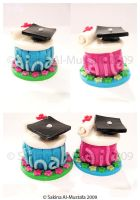 Customized Graduation Cupcakes by ChocoAng3l