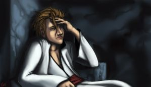 Comish - Aizen by oneoftwo
