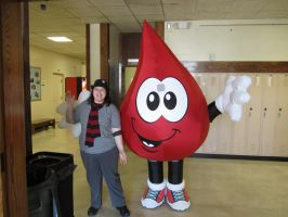 I donated blood by Bloodstainedhowl