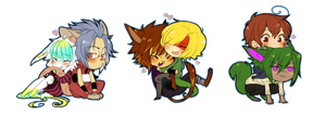 Chibi OTPs by CookieHana