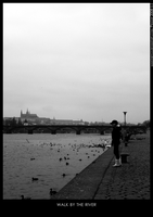 Walk by the river by MahoneyCZ