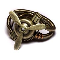 Airship Captain Steampunk Ring by CatherinetteRings