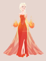 Fire!Elsa by muttonfudge