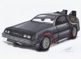 DMC DeLorean by Lowrider-Girl